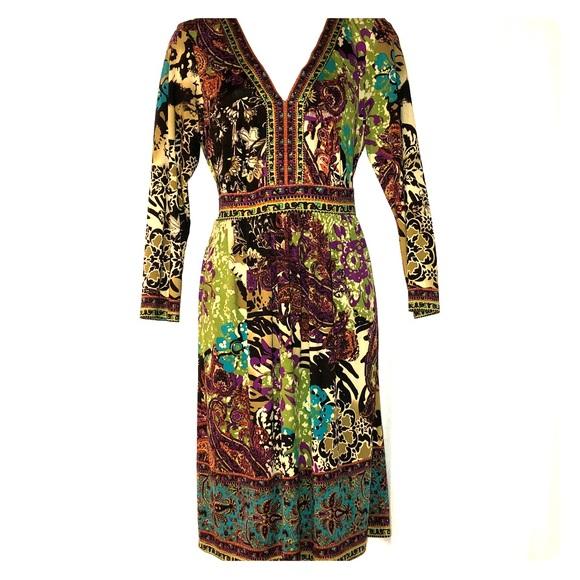 ECI Dresses & Skirts - Beautiful Multi-color Print Dress